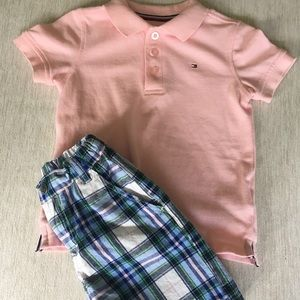 Tommy Hilfiger polo outfit size 2T